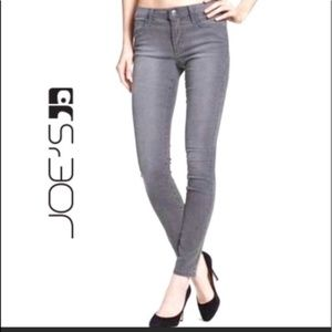 Joe's Jeans Straight Ankle Gray Jeans Shelby